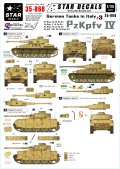 STAR DECALS[SD35-868] 1/35 WWII独 イタリア戦線#3 IV号戦車G/H型 デカールセット