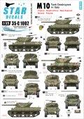 STAR DECALS[SD35-C1002] 1/35 WWII イタリア戦線のM10駆逐戦車 仏、英、南アフリカ、ニュージーランド、ポーランド デカールセット