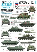 STAR DECALS[SD35-C1003] 1/35 スロベニア独立戦争 1991 #1 M36B2,T-55A,M-84,BTR-50PK デカールセット