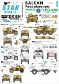STAR DECALS[SD35-C1004] 1/35 バルカン半島の平和維持部隊#3.フランス軍 VBL, VAB, AMX-10RC デカールセット
