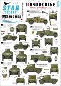 STAR DECALS[SD35-C1006] 1/35 インドシナ紛争 #1 装甲車 ホワイトスカウト,ハンバーSC,パナール178 デカールセット