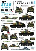 STAR DECALS[SD35-C1015] 1/35 現用仏 AMX-30B2 冷戦-現代 デカールセット