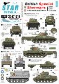 STAR DECALS[SD35-C1018] 1/35 WWII英 英軍特殊車両 BARV,シャーマンクラブ,シャーマンクロコダイル デカールセット