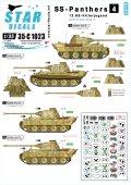 STAR DECALS[SD35-C1023] 1/35 WWII独 武装親衛隊のパンター #4 武装親衛隊第12装甲師団 ヒトラー・ユーゲント D型&A型 フランス/ベルギー デカールセット