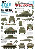STAR DECALS[SD35-C1027] 1/35 WWII米 第70戦車大隊 ユタビーチ M4,M4ドーザー,M4A1DD