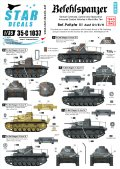 STAR DECALS[SD35-C1037]1/35 WWII独 III号指揮戦車 デカールセット D1/E/H型