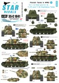 STAR DECALS[SD35-C1041]1/35 WWIIのフィンランド戦車 #5 デカールセット KV-1,水陸両用戦車