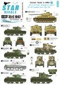 STAR DECALS[SD35-C1042]1/35 WWIIのフィンランド戦車 #6 デカールセット BT-5,BT-42,IV号,JSU-152