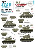 STAR DECALS[SD35-C1043]1/35 WWII米 M4A3E2 ジャンボ デカールセット