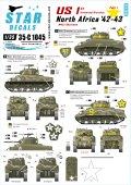 STAR DECALS[SD35-C1045]1/35 WWII米 北アフリカ戦線#1 第1機甲師団のM4A1シャーマン デカールセット