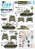STAR DECALS[SD35-C1048]1/35 WWII米 第6機甲師団のM4A3E8イージーエイト デカールセット