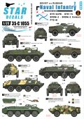 STAR DECALS[SD35-C1055]1/35 ソビエト/ロシア軍の海軍歩兵 #2 BTR,BRDM デカールセット