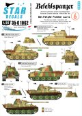STAR DECALS[SD35-C1062]1/35 WWII独 指揮戦車 #6 パンターD/A型 デカールセット