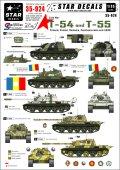 STAR DECALS[SD35-924] 1/35 冷戦期のT-54/55 フィンランド、ポーランド、ルーマニア、チェコ、ソ連 デカールセット