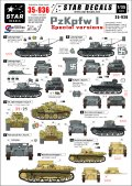STAR DECALS[SD35-936]1/35 I号戦車特殊型&F型 デカールセット