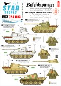 STAR DECALS[SD72-A1013]1/72 WWII独 指揮戦車 #6 パンターD/A/G型 デカールセット