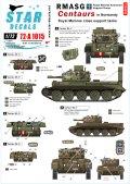 STAR DECALS[SD72-A1015]1/72 WWII英 ノルマンディーの英軍海兵隊 火力支援車両 セントー