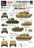 STAR DECALS[SD35-874] 1/35 ドイツ戦車 ハンガリー1945 #2 T-34/85、ティーガーII、III突、フンメル弾薬運搬車、ヴェスペ デカールセット