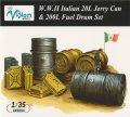 ヴィジョンモデルズ[VA-9004]1/35 WWII イタリア陸軍 20Lジェリ缶・200Lドラム缶セット