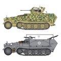 サイバーホビー[CH6592]1/35 WW.IIドイツ軍 Sd.Kfz.251/17 C型 対空自走砲/コマンドバージョン (2in1)