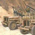 サイバーホビー[CH6745]1/35 WW.II イギリス陸軍 SAS 1/4トン 4x4 小型軍用車輌(重武装タイプ)フィギュア2体付き