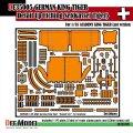 DEF.MODEL[DE35005]キングタイガー ディテールアップエッチングパーツセット(アカデミー用)