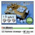 DEF.MODEL[DM35008]M1151 ハンビー 積荷&MTタイヤセット