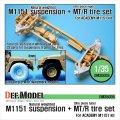 DEF.MODEL[DM35009]M1151 ハンビー サスペンション&MT/Rタイヤセット(アカデミーM1151用)