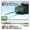 DEF.MODEL[DM35041]アメリカ M10 駆逐戦車 3インチ M7戦車砲砲身&防盾セット(アカデミー用)