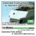 DEF.MODEL[DM35052 ]1/35 WWII米 M4A3E2 ジャンボ コンクリートアーマー M1A1C金属砲身付き(アスカ用)