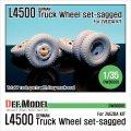 DEF.MODEL[DW30008]メルセデス・ベンツ L4500 トラック 自重変形タイヤ(ズベズダ用)