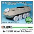DEF.MODEL[DW35011]LAV-25 SLEP/LAV-25A1 自重変形タイヤ(トランぺッター用)