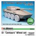 DEF.MODEL[DW35012]B1 チェンタウロ 自重変形タイヤ(トランぺッター用)