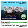 DEF.MODEL[DW35021]ピックアップトラック 自重変形タイヤ(モンモデル用)