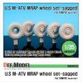DEF.MODEL[DW35029]M-ATV MRAP 自重変形タイヤ(キネティック用)