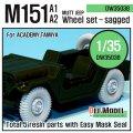 DEF.MODEL[DW35038]M151A1/A2 フォード マット 自重変形タイヤ(タミヤ/アカデミー用)