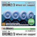 DEF.MODEL[DW35041]BRDM-2/3 自重変形タイヤ(トランぺッター用)