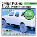 DEF.MODEL[DW35044]ピックアップトラック 自重変形タイヤ 3(モンモデル用)