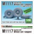DEF.MODEL[DW35058]アメリカ M1117ガーディアン ASV 自重変形タイヤセット(トランぺッター用)