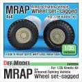 DEF.MODEL[DW35064]アメリカ MRAP M-プロ 自重変形タイヤセット(キネティック用)