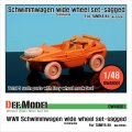 DEF.MODEL[DW48001]1/48 シュビムワーゲン ワイドタイヤ コンチネンタル 自重変形タイヤ(タミヤ用1/48)