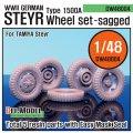 DEF.MODEL[DW48004]1/48 シュタイヤー 1500A 自重変形タイヤ(タミヤ用1/48)