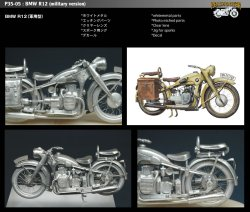 画像1: SWASH DESIGN[P35-05]BMW R12 (Military)