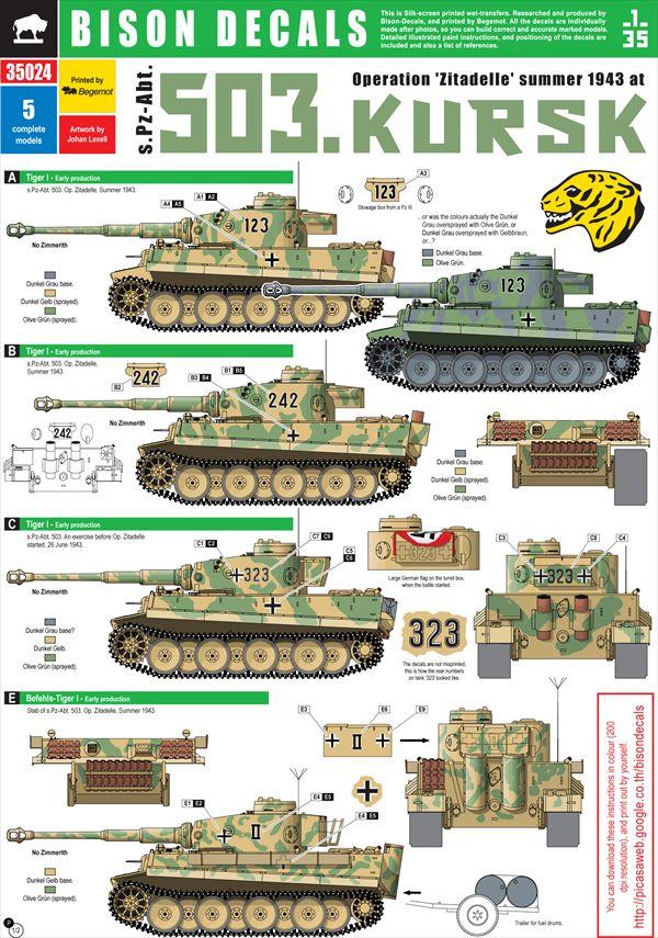 画像1: BISON DECALS[BD35024]クルスク戦の第503...   BISON