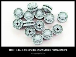 画像1: Miniarm[B35009t ] 1/35 JS-3M/JS-4 転輪セット(後期型)(トラペ用)