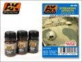 AKインタラクティブ[AK062]ストレーキング(雨だれ)塗装セット