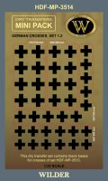 ワイルダー[MP3514]WWII ドイツ軍鉄十字マーキング1.2 ブラック(MP3513の下貼り用)