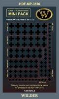 ワイルダー[MP3516]WWII ドイツ軍鉄十字マーキング2.2 ブラック(MP3515の下貼り用)