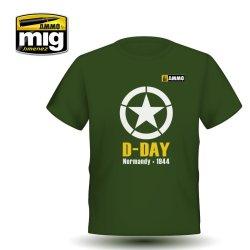 画像1: AMMO[AMO-8029L]D-DAY ノルマンディー上陸作戦 Tシャツ(L)