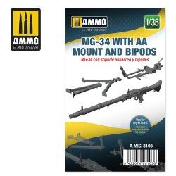 画像1: AMMO[AMIG8103]1/35 MG-34w/対空機銃架 & バイポッド